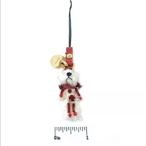 Prada teddy bear key or bag charm